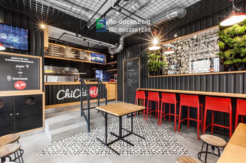 Cafe thiết kếcông nghiệp