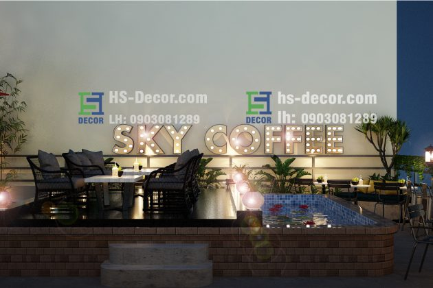 Cafe rooftop Sky Coffee