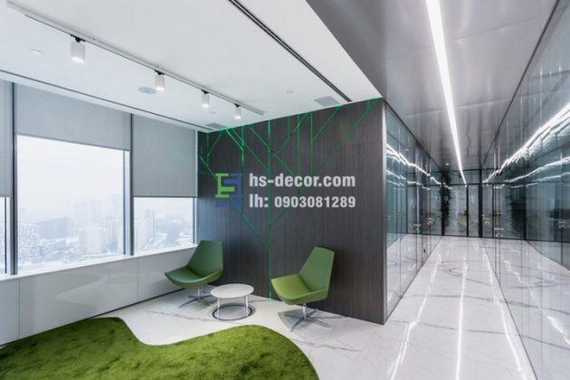 Thiết kế nội thất văn phòng công ty thời trang