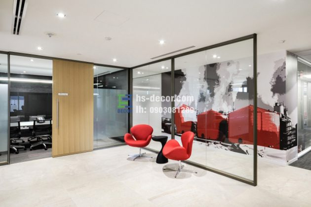 Thiết kế nội thất văn phòng Jacos